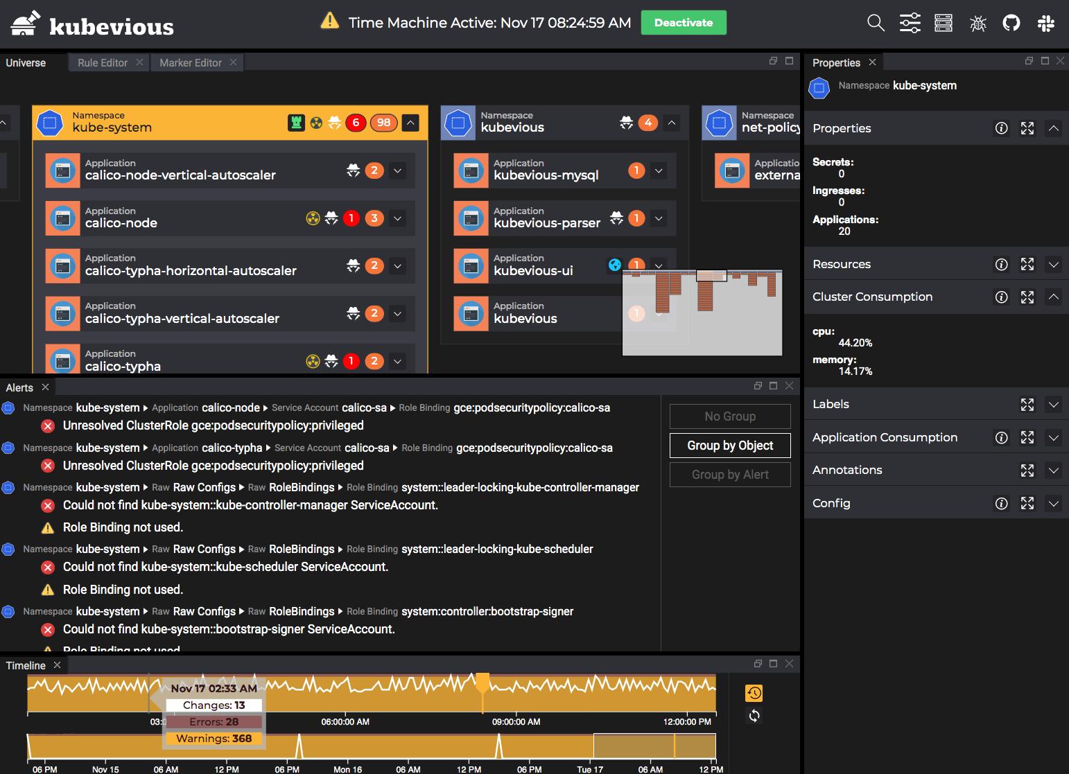 Kubevious v0.7 Screen