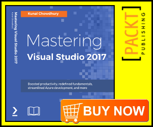 Click to preorder 'Mastering Visual Studio 2017'
