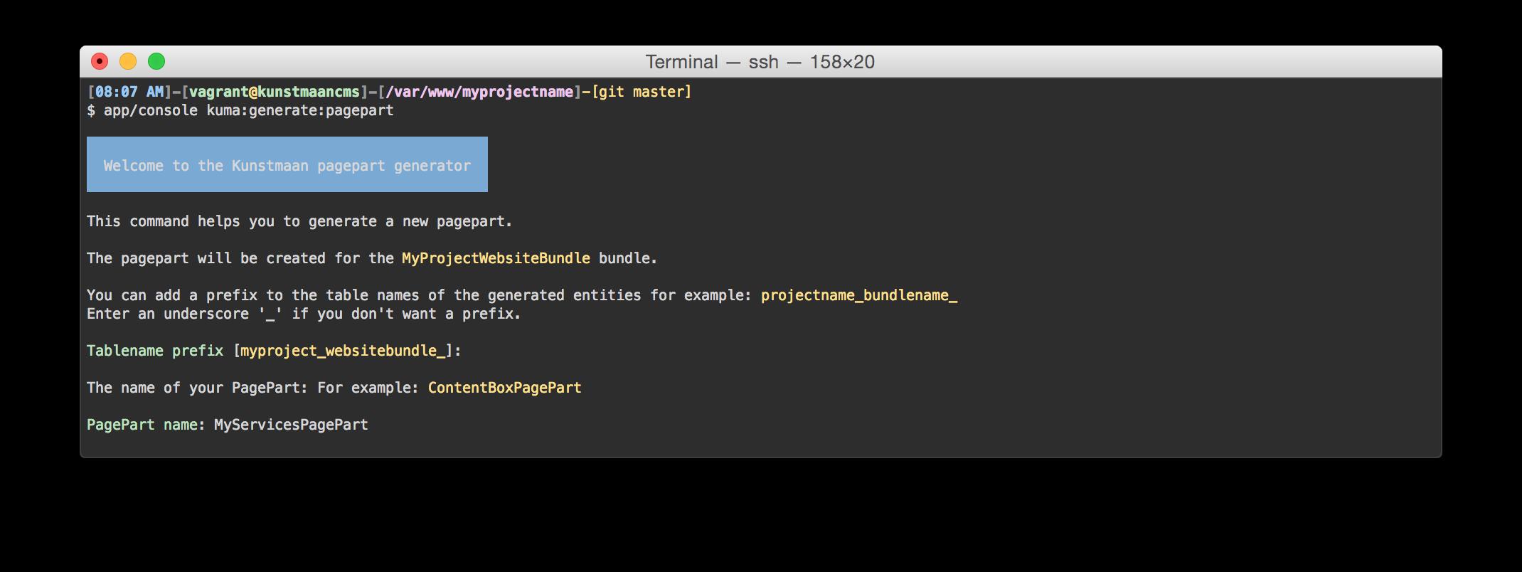 app/console kuma:generate:pagepart