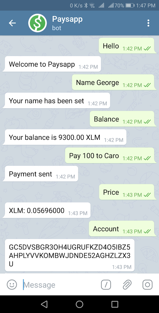 Paysapp for Telegram
