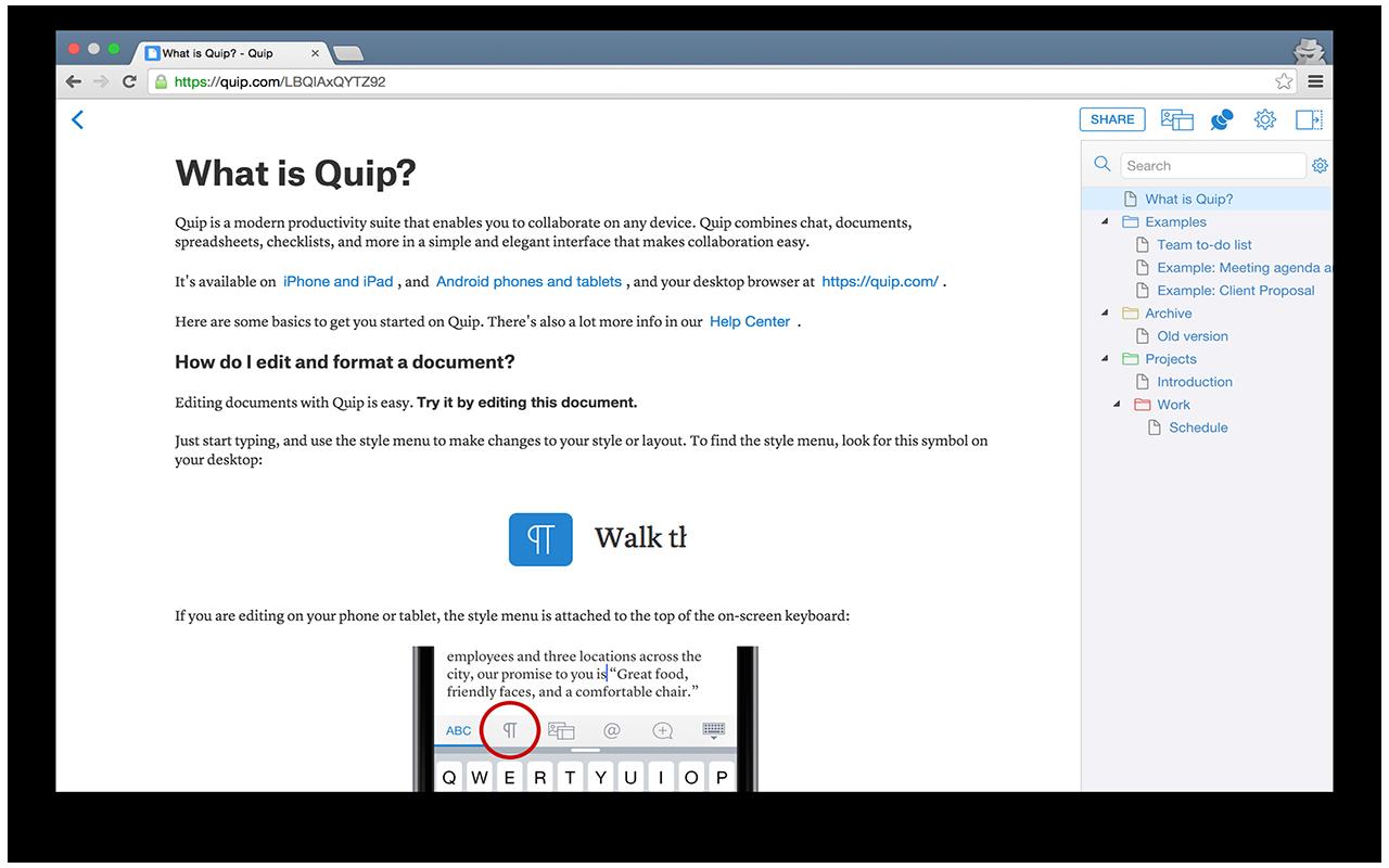 Quiptree Screenshot