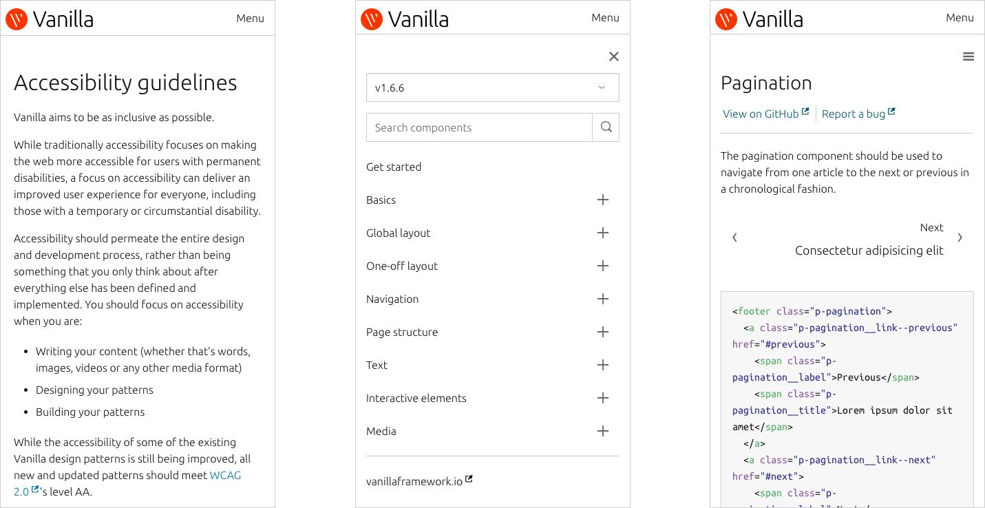Vanilla responsive