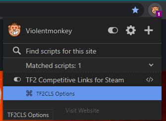 TF2CLS Script Manager Menu