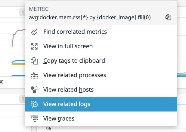 metrics switch to logs