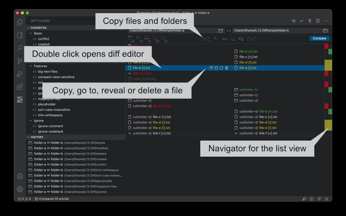 Diff Folders Selection