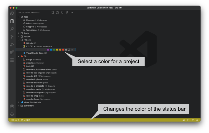 Projects Colors