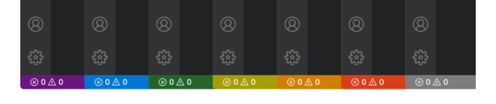 Projects Status Bar Colors