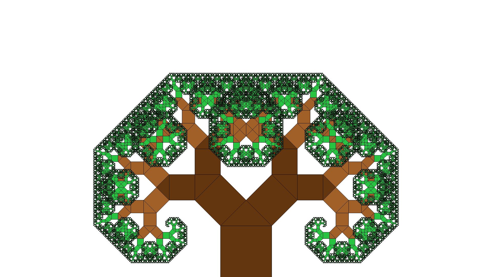 Image of Pythagoras Tree Fractal