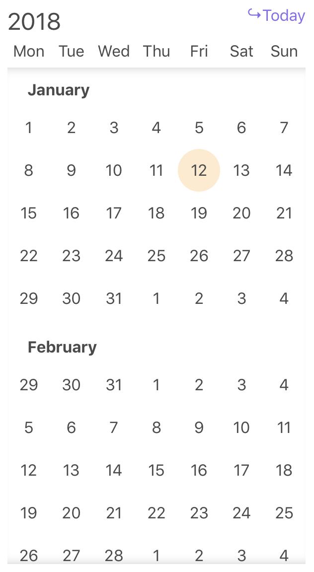 vue-infinite-calendar example