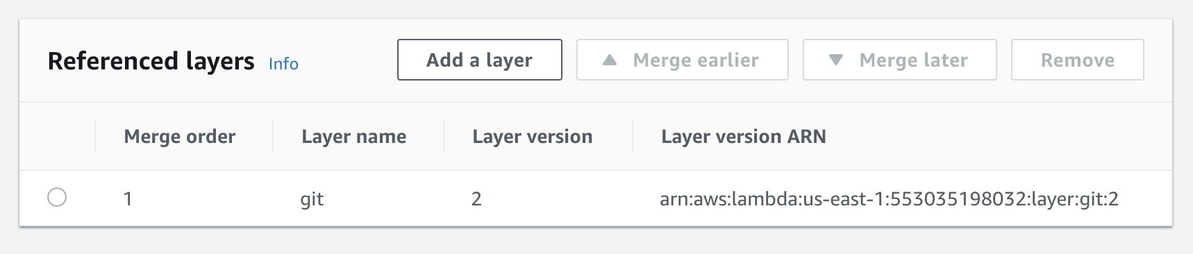 GitHub - lambci/git-lambda-layer: A layer for AWS Lambda that allows