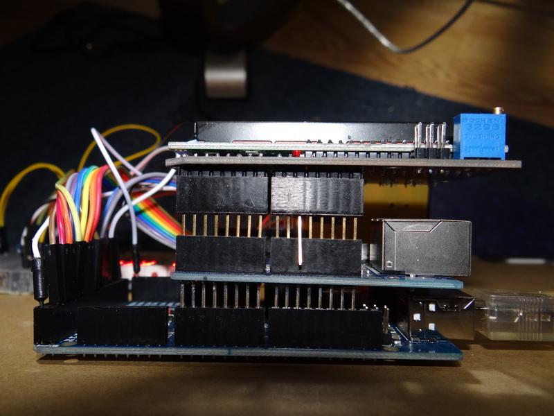 Bent Pin 10 of LCD+Keypad Shield
