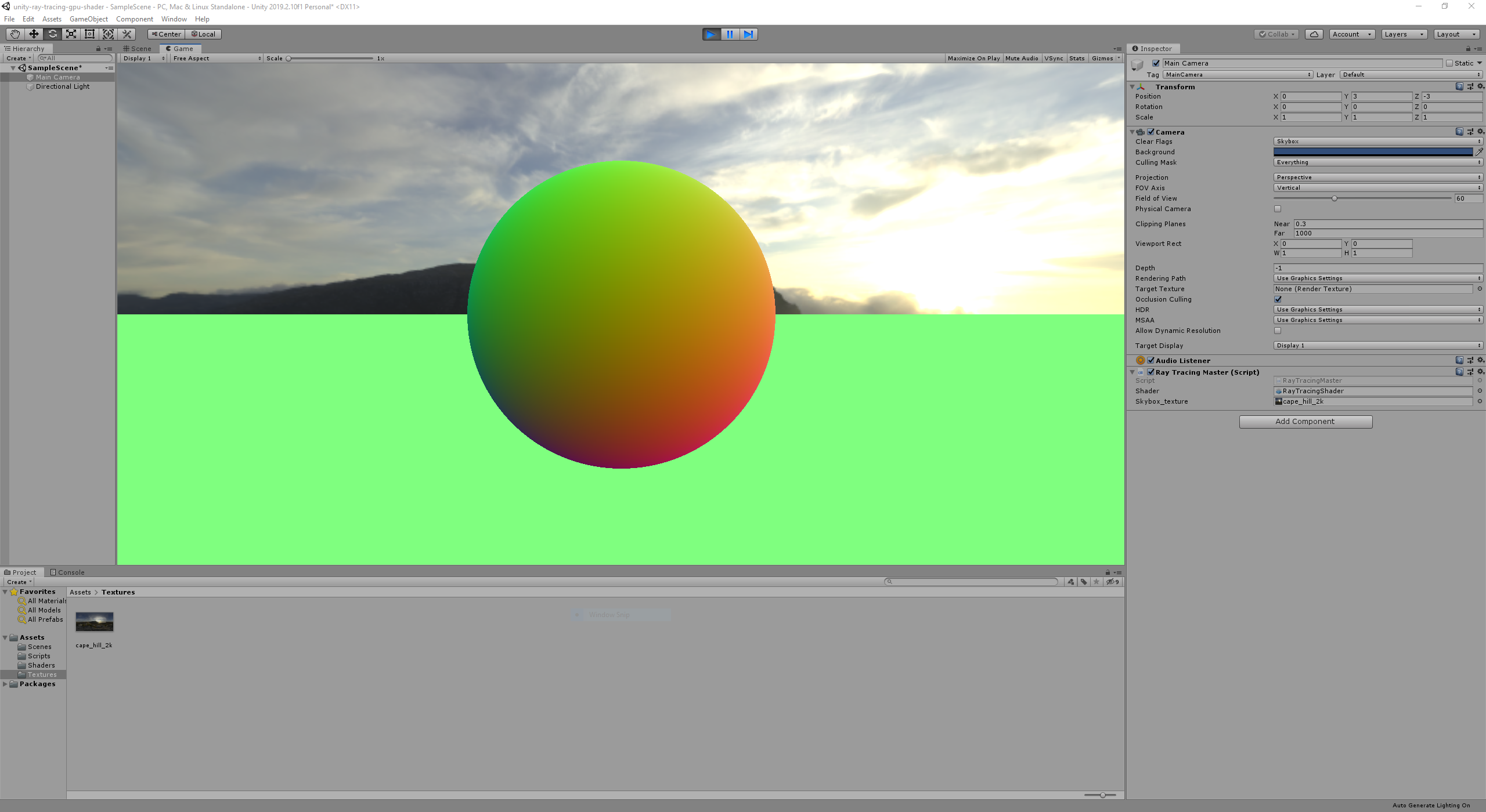 Sphere with Aliasing