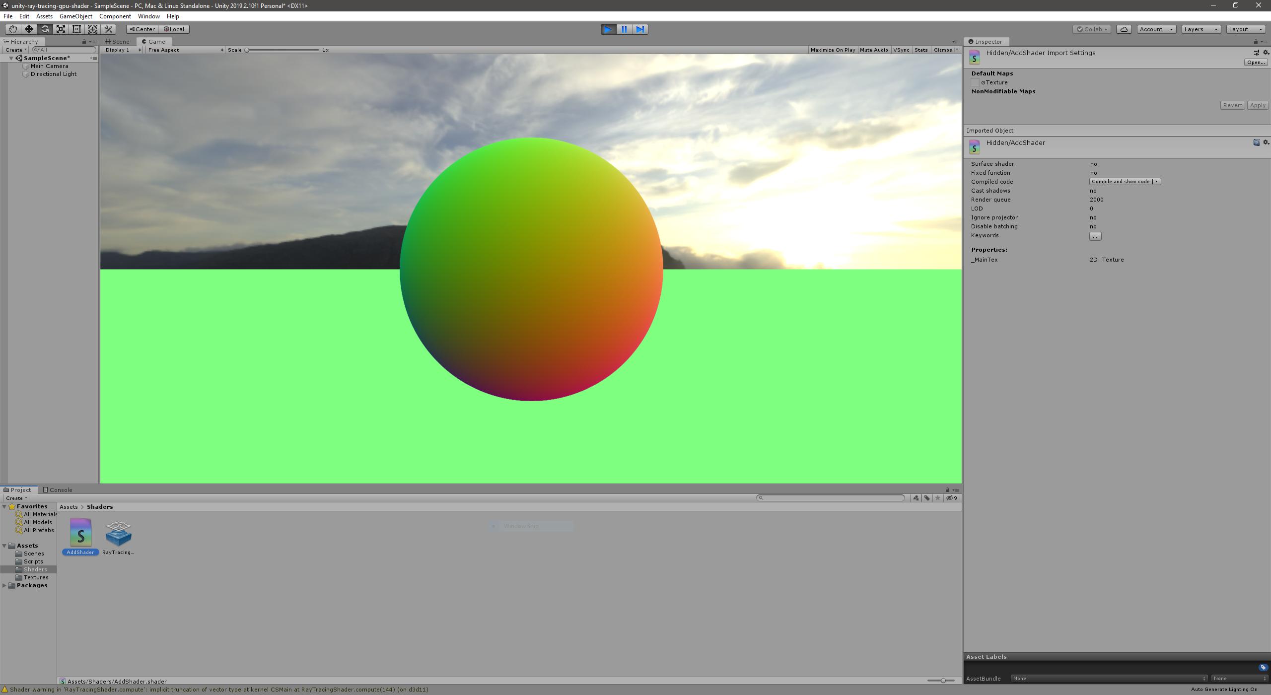 Sphere with Progressive Sampling