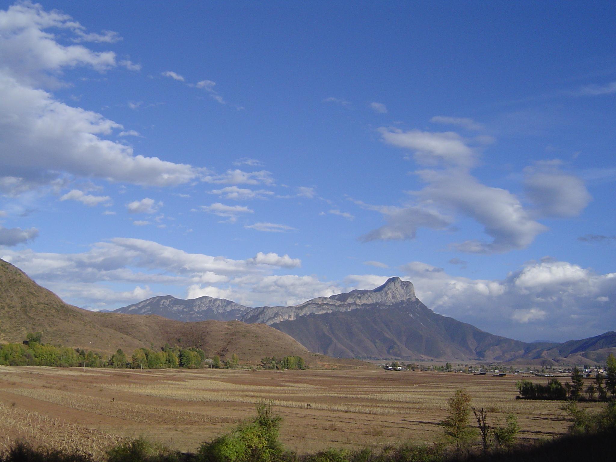 La plaine de Yongning, à la frontière entre Yunnan et Sichuan (sud-ouest de la Chine)