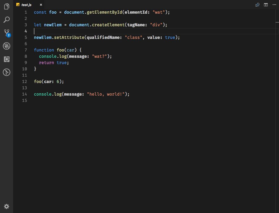 JS Parameter Annotations
