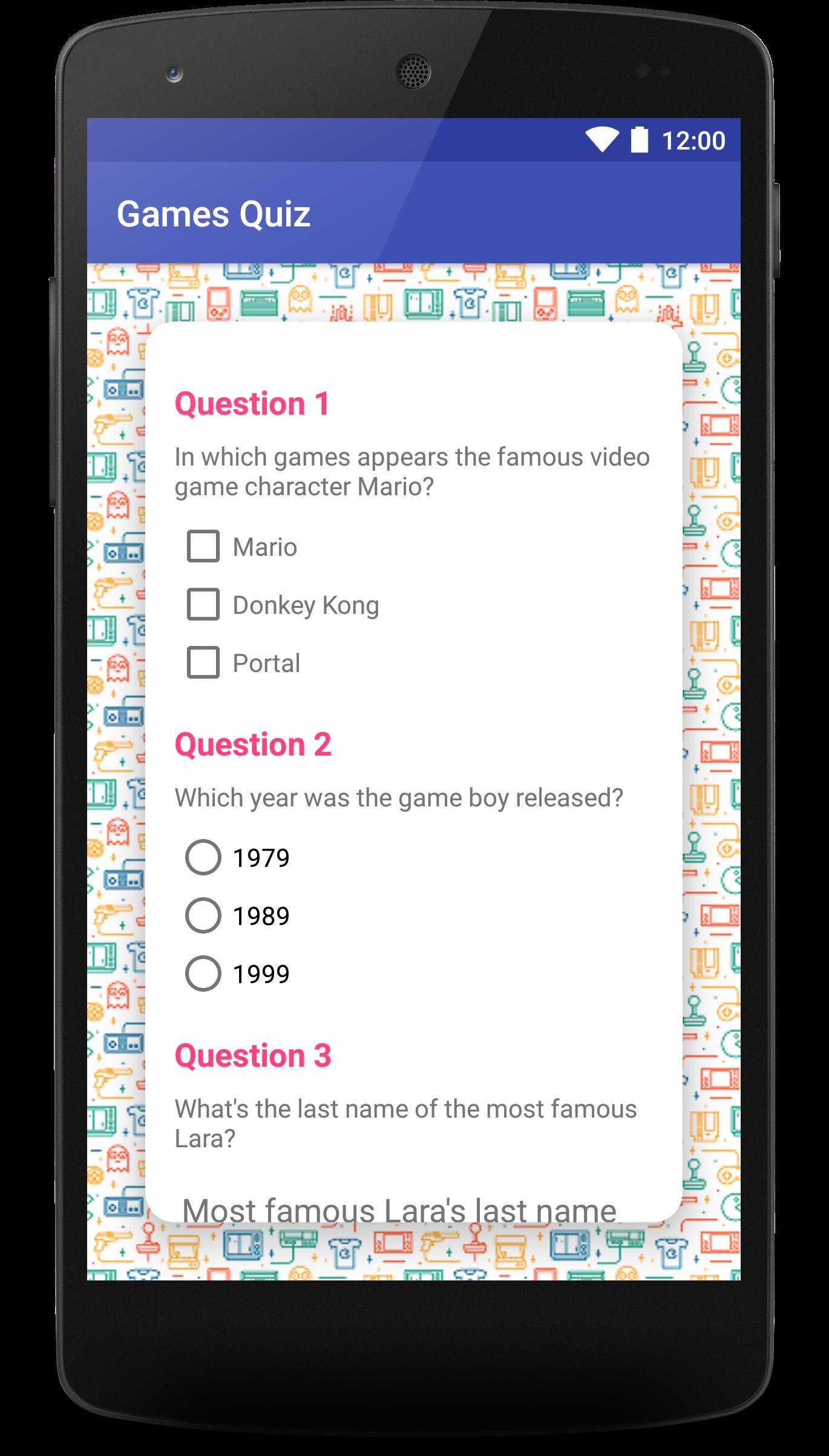 GitHub - laramartin/android_games_quiz_udacity: Project Quiz