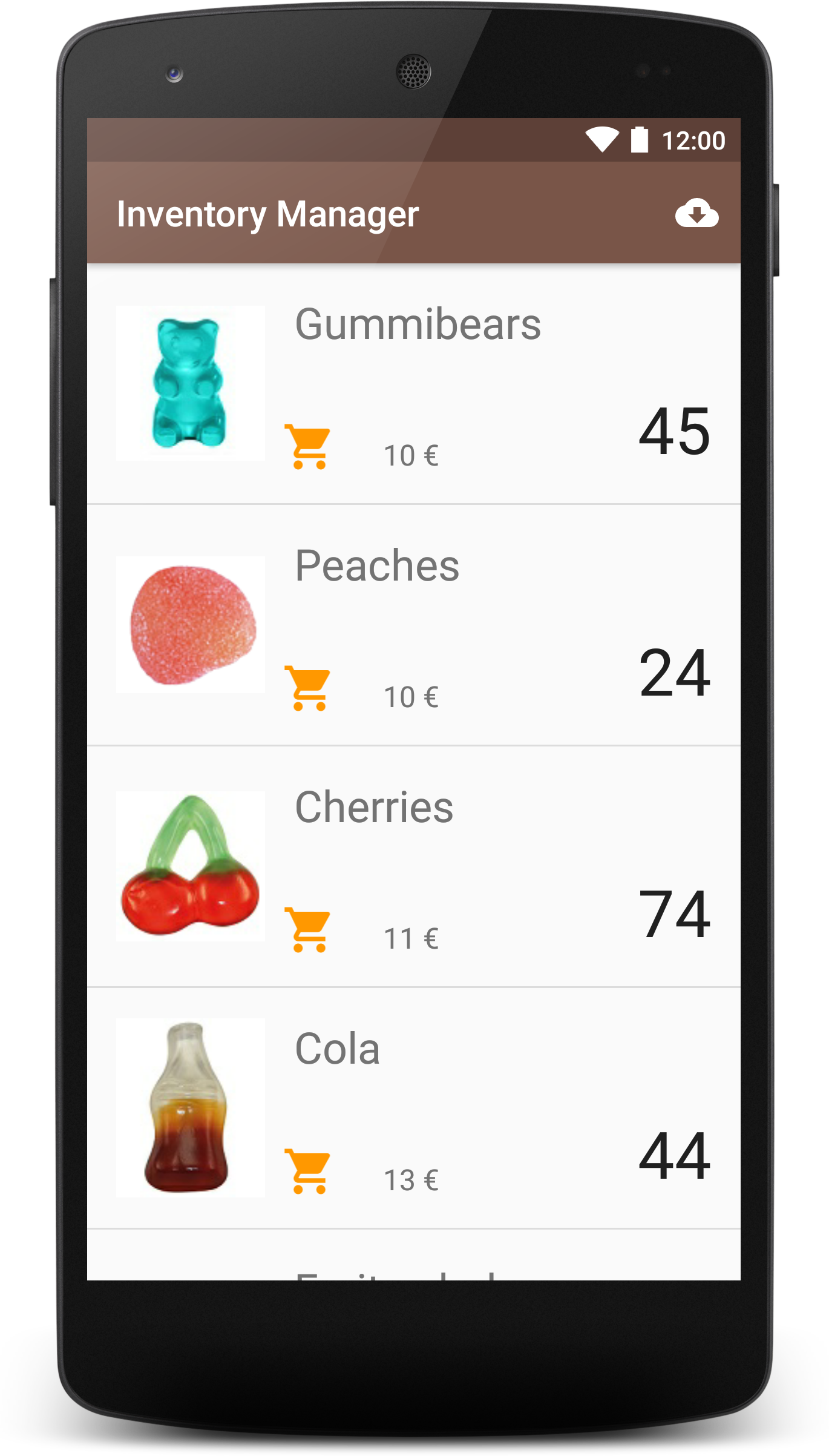 GitHub - laramartin/android_inventory: Inventory app project for