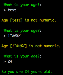Command Line Example