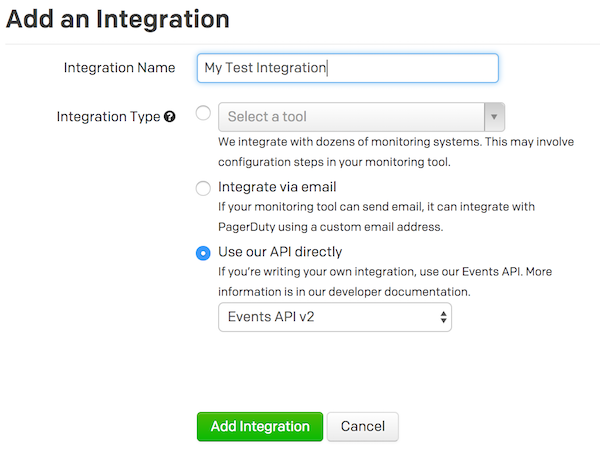 Creating a new integration