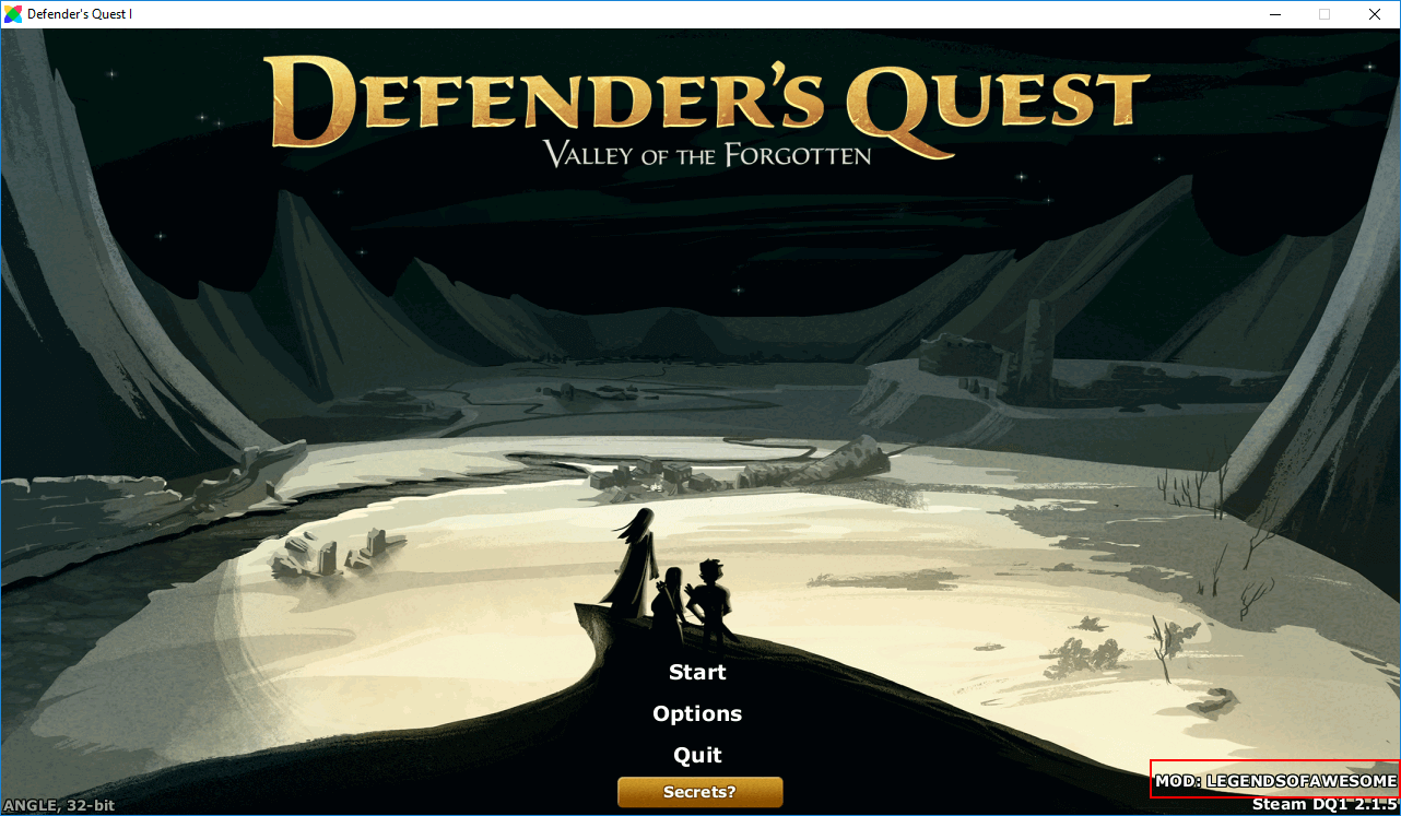 Defender's Quest with mod loaded