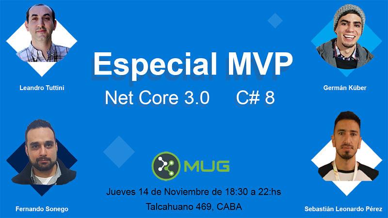 Especial MVP: NET Core 3.0 C# 8