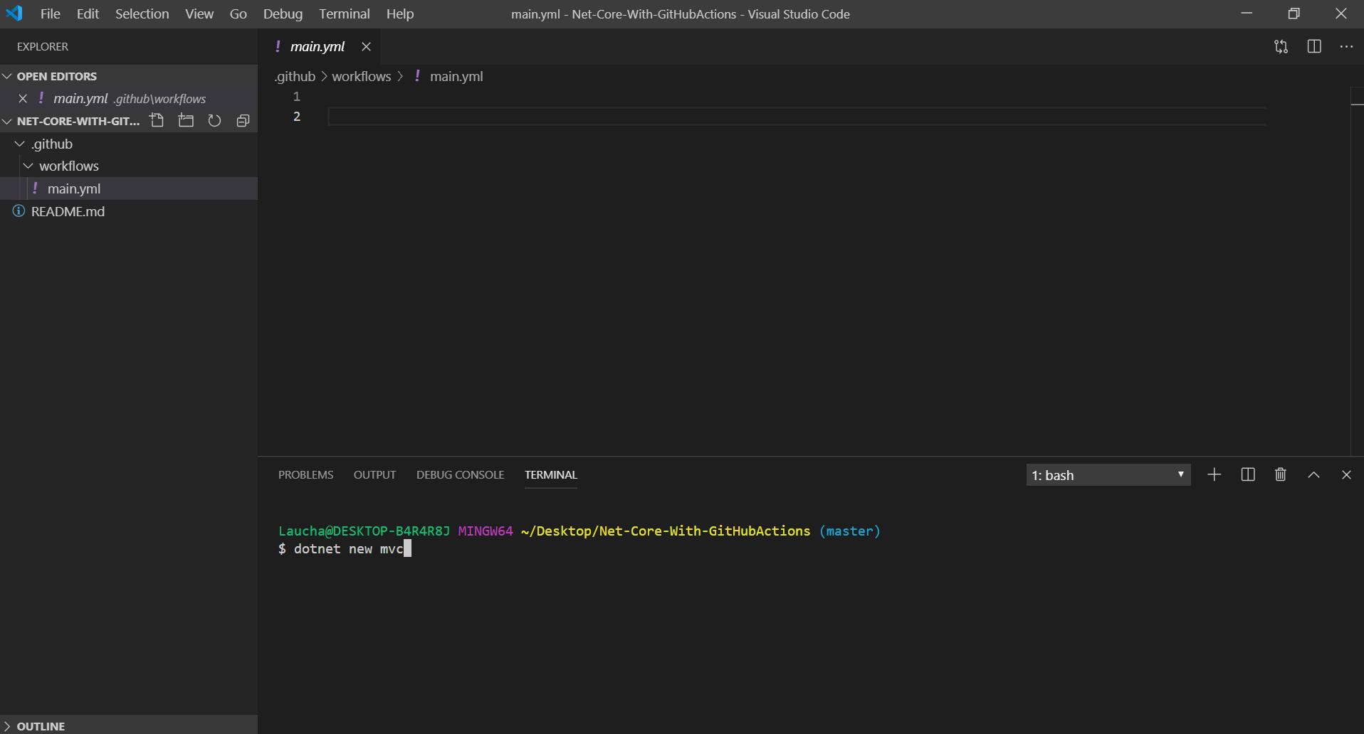 Repositorio abierto con VsCode