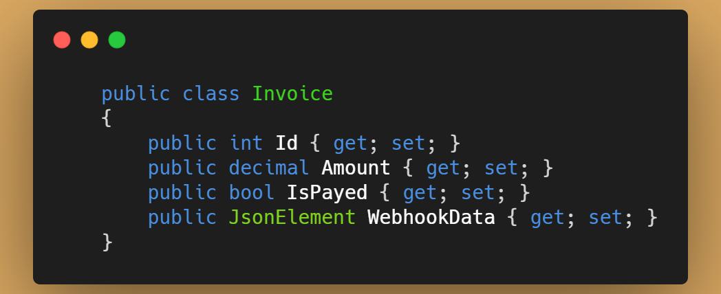 Propiedad JsonElement para guardar el JSON con EntityFramework