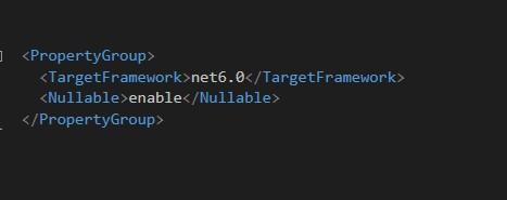 Activar Nullable Reference en NET 6 desde el archivo de proyecto