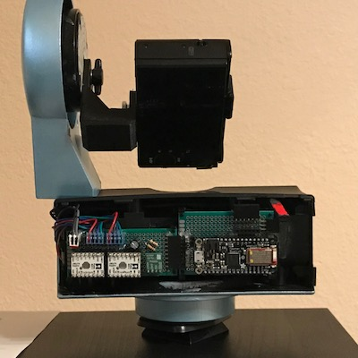Adafruit Feather M0-based Pano Controller installed in Gigapan EPIC 100