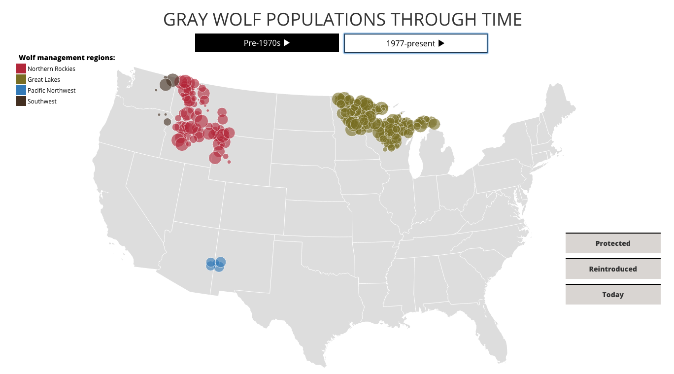 D3 wolf population map