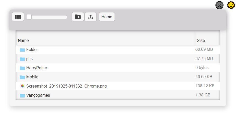 (WebApp) Web File Explorer Screenshot
