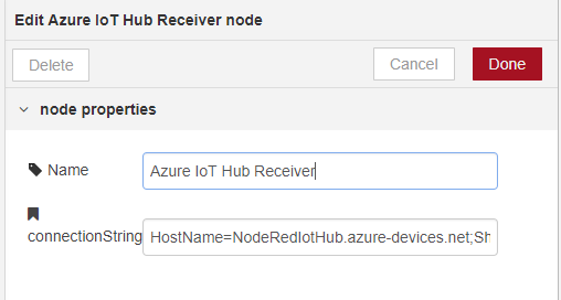 node-red-contrib-azure-iot-hub - Node-RED