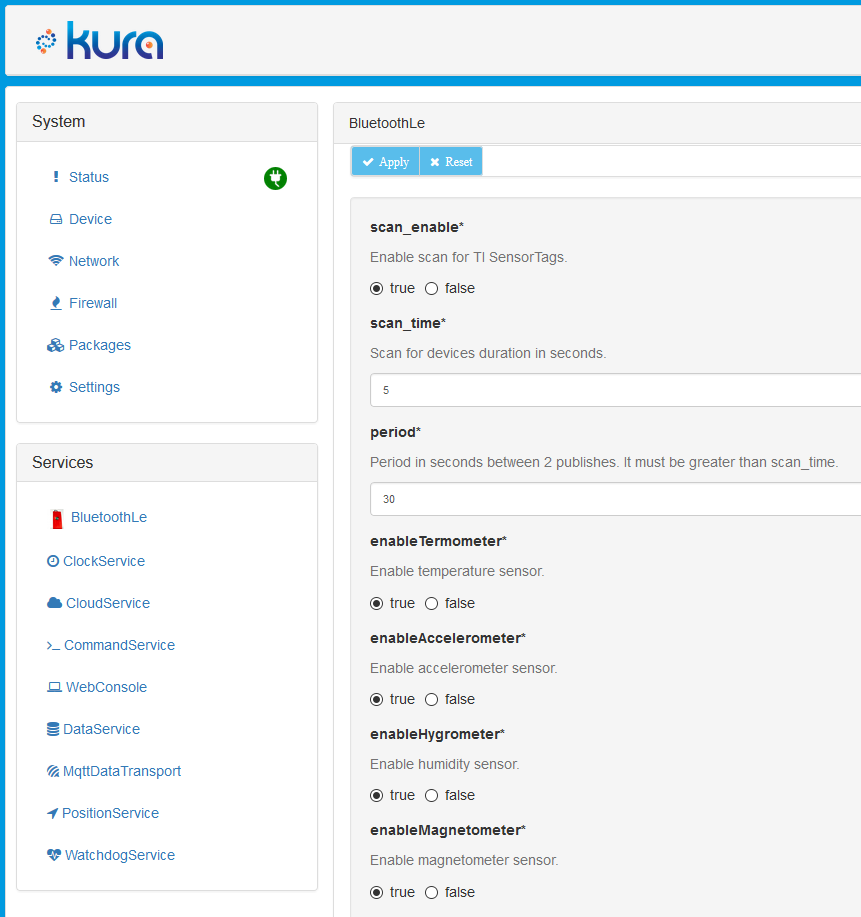 Kura web example