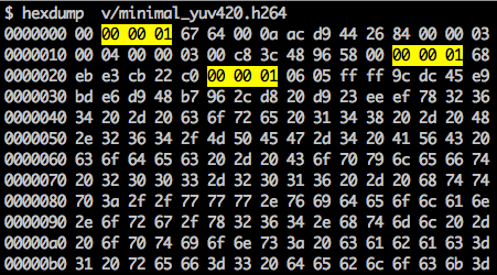 synchronization marker on NAL units
