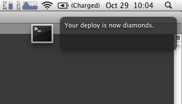 Your deploy is now diamonds