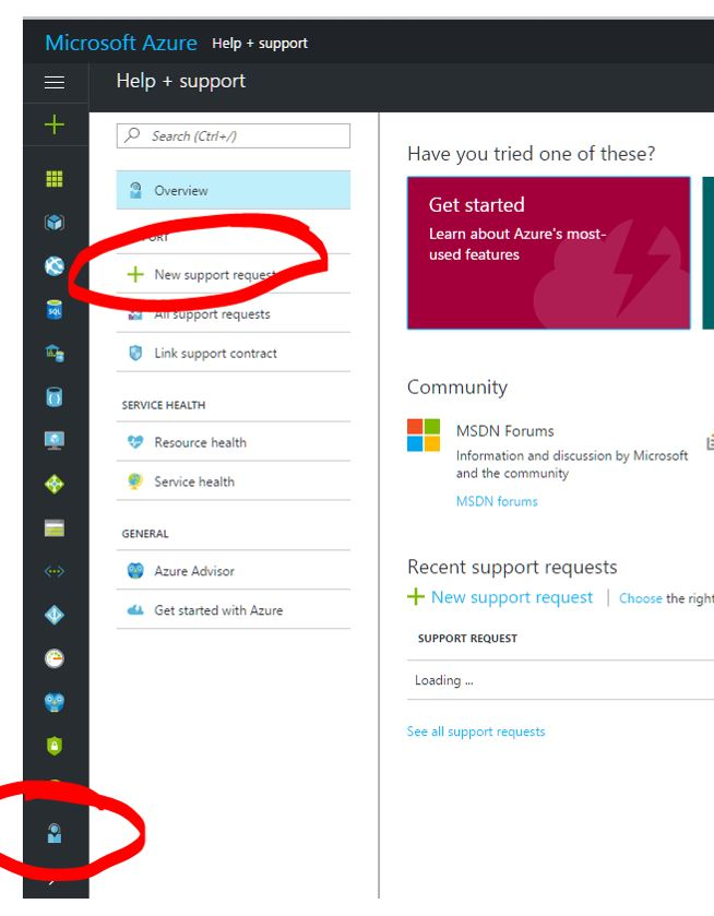 Azure Portal VM Selection