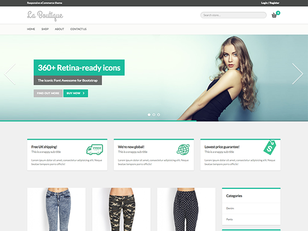 live demo github - Free Ecommerce Website Templates