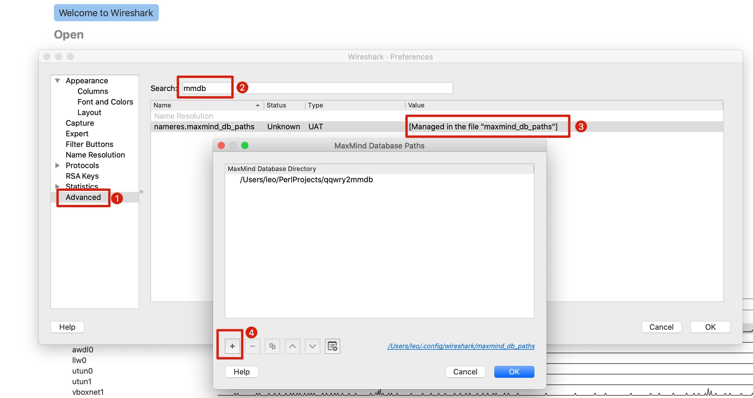 WireShark 配置使用纯真网络IP数据库
