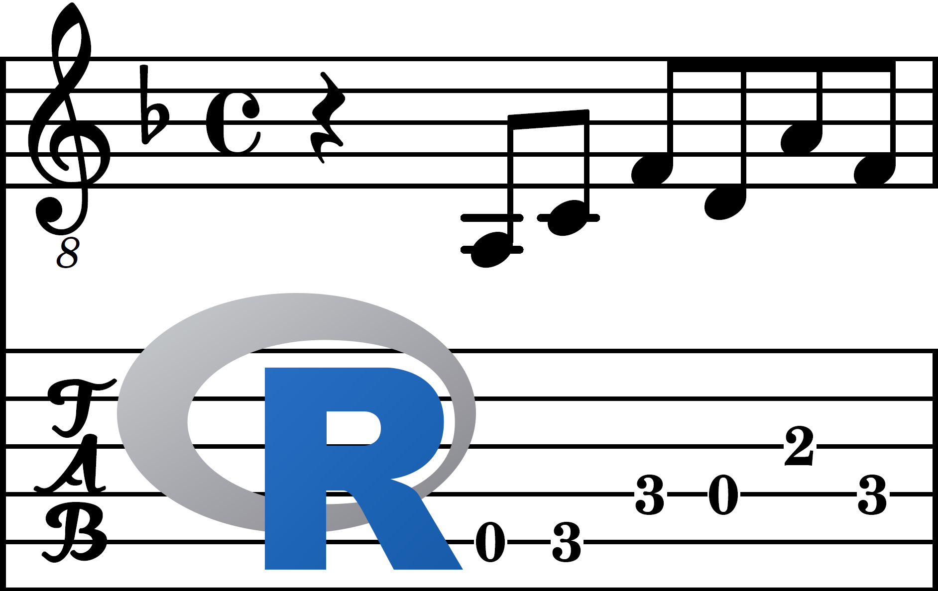 Introducing tabr: guitar tabs with R