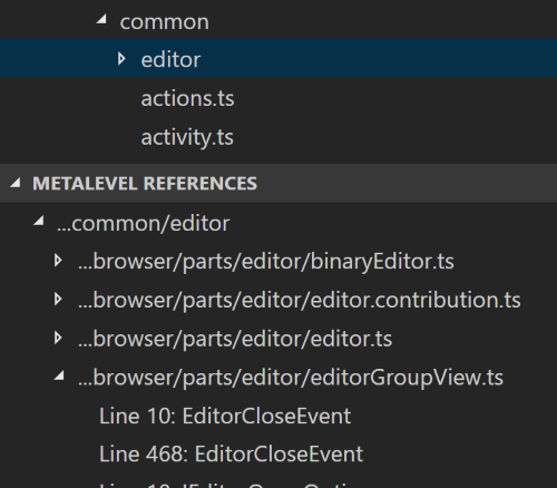 Screenshot of Metalevel References extension