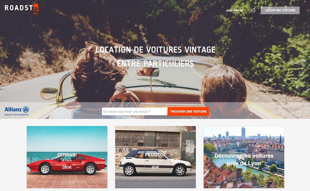 roadstr location de voitures vintage entre particuliers le wagon. Black Bedroom Furniture Sets. Home Design Ideas