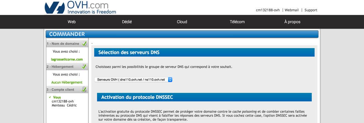 Conservez les DNS d'origines