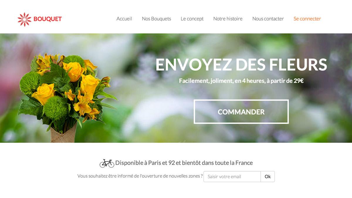 Bouquet, l'app de livraison de fleurs indispensable
