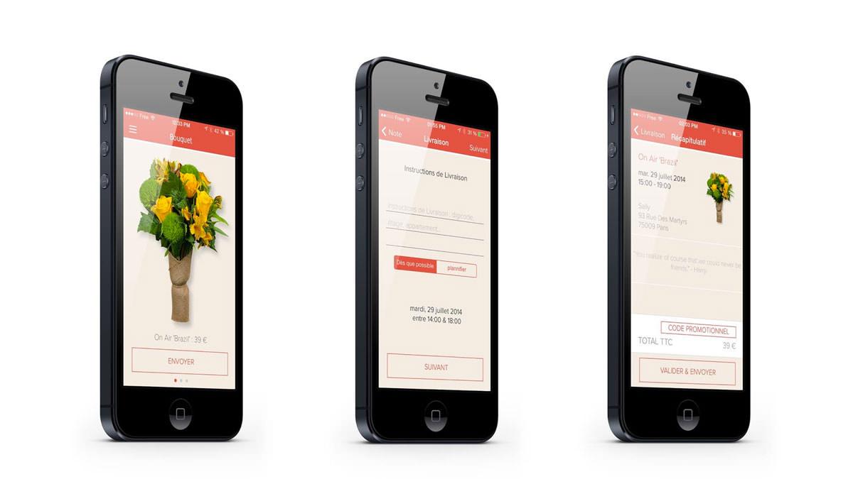 Bouquet, envoyez des fleurs depuis votre mobile