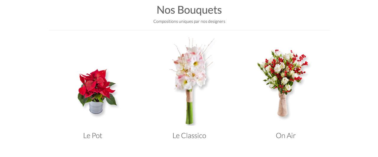 3 bouquets au choix