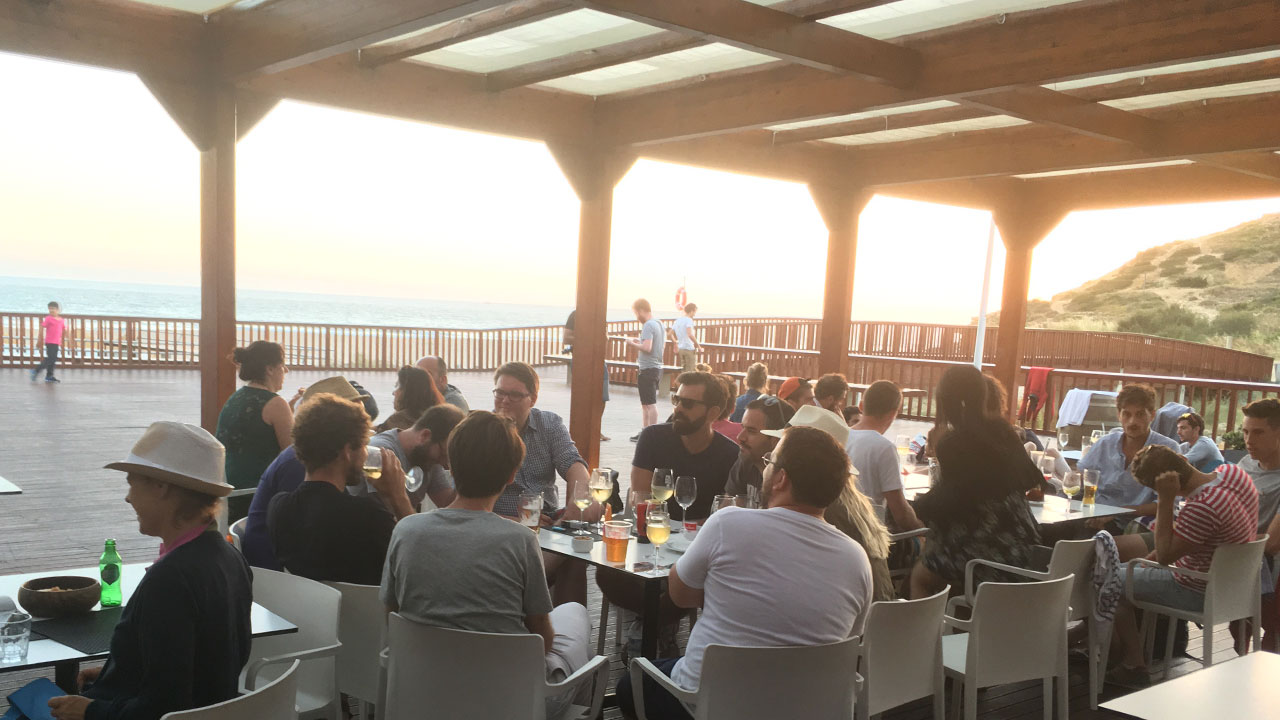 What would be a company retreat without a few drinks by the beach?