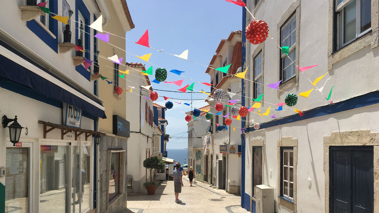 Having a stroll in Ericeira streets