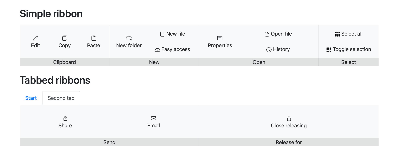 Ribbon menu on desktop