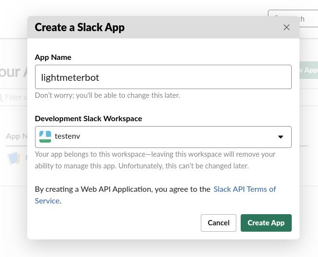 configure new app screenshot