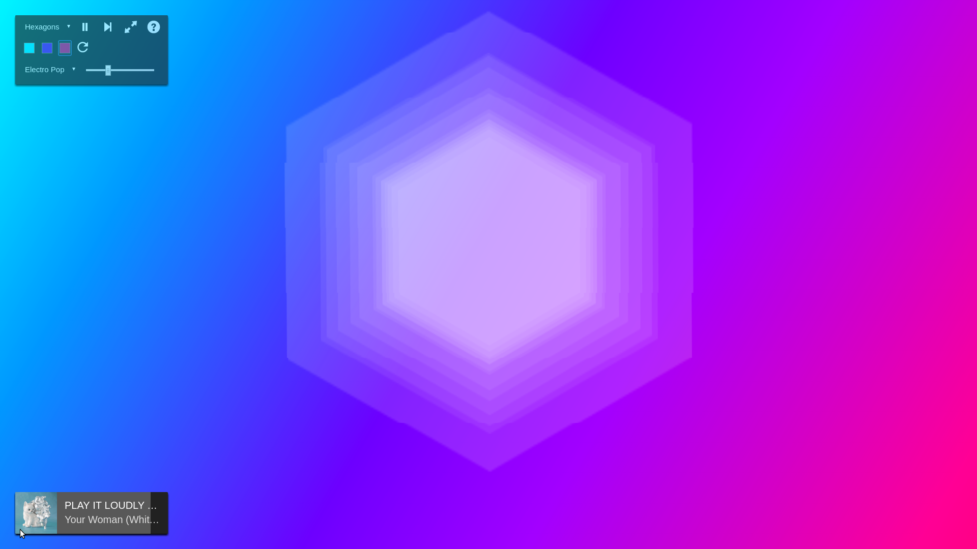 CSS Visualizer - Hexagon Mode